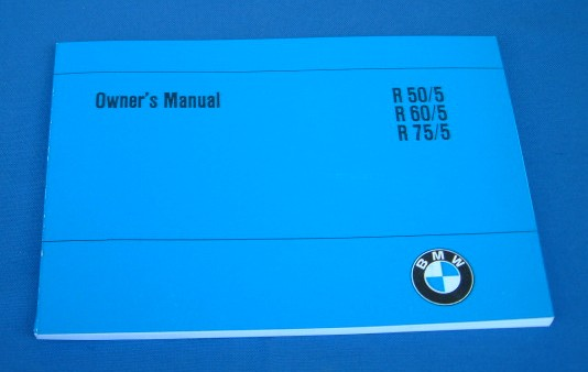 Handbuch Owners Manual R50/5,R60/5,R75/5